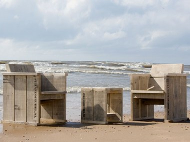 Komplettes Holzmöbel Sets Inklusive Kissen Strandmeubelnl